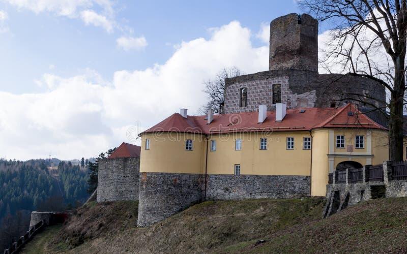 Castillo de Svojanov fotografía de archivo libre de regalías