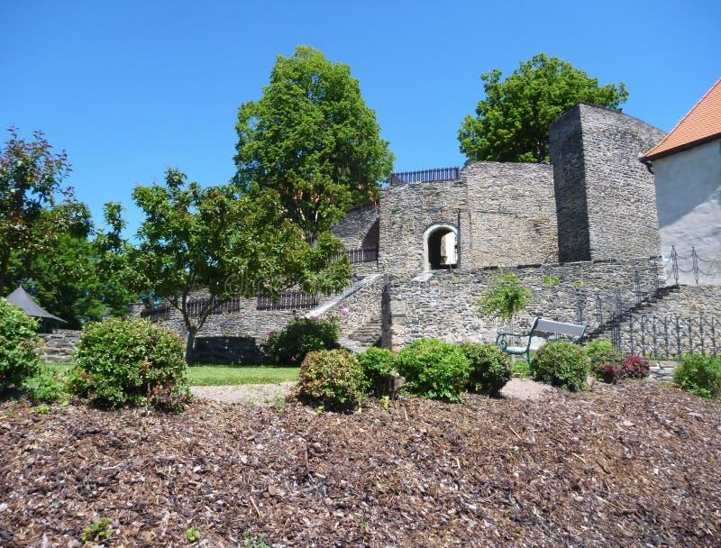 Castillo de Svojanov en República Checa imagenes de archivo