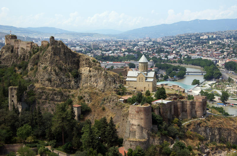 Castillo de Tbilisi fotografía de archivo