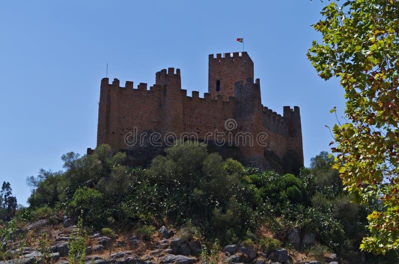 Castillo de Templar de Almourol en Tomar fotografía de archivo libre de regalías