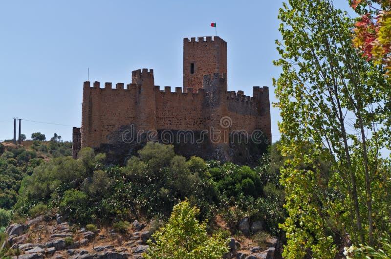 Castillo de Templar de Almourol en Tomar foto de archivo libre de regalías