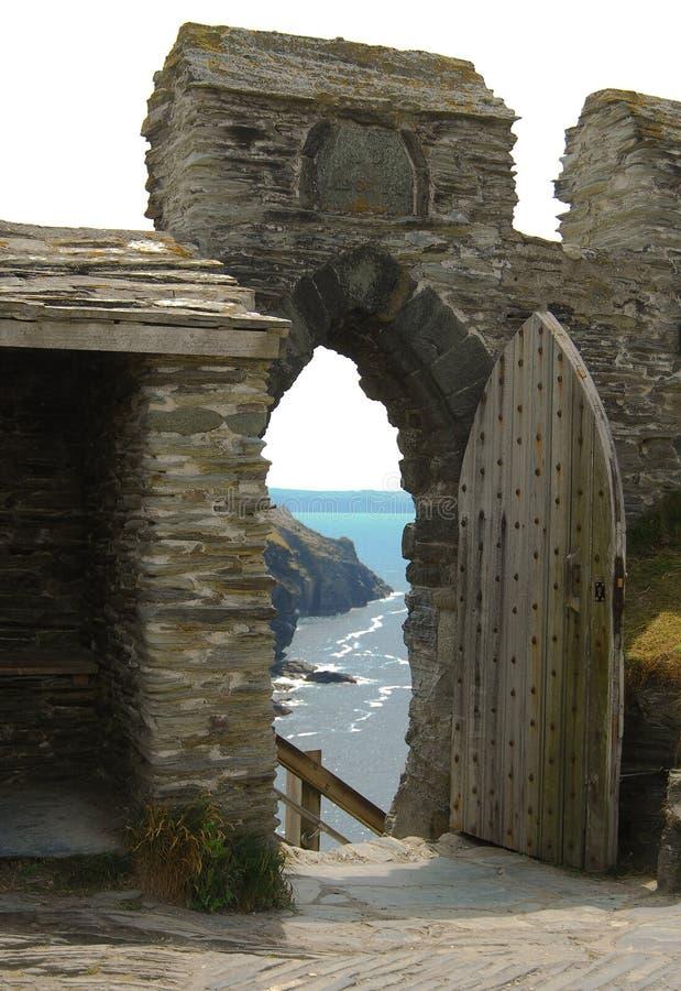 Castillo de Tintagel foto de archivo libre de regalías