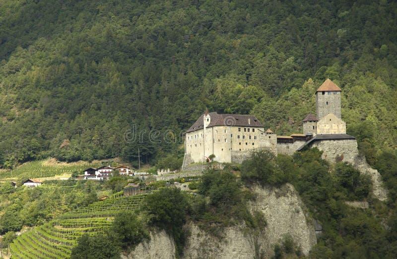Castillo de Tirolo imagen de archivo