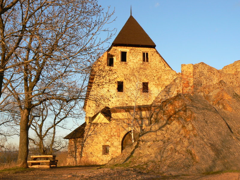 Castillo de Tocnik, Republ checo fotografía de archivo libre de regalías