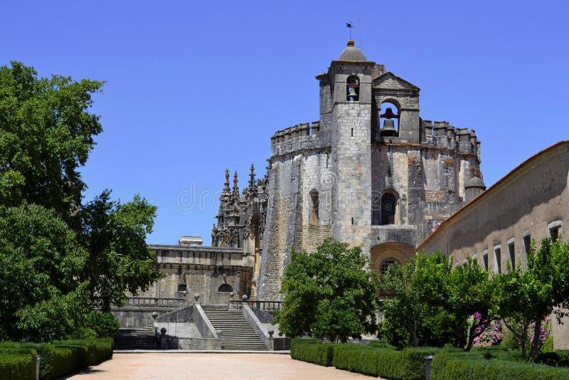 Castillo de Tomar en Portugal imagen de archivo