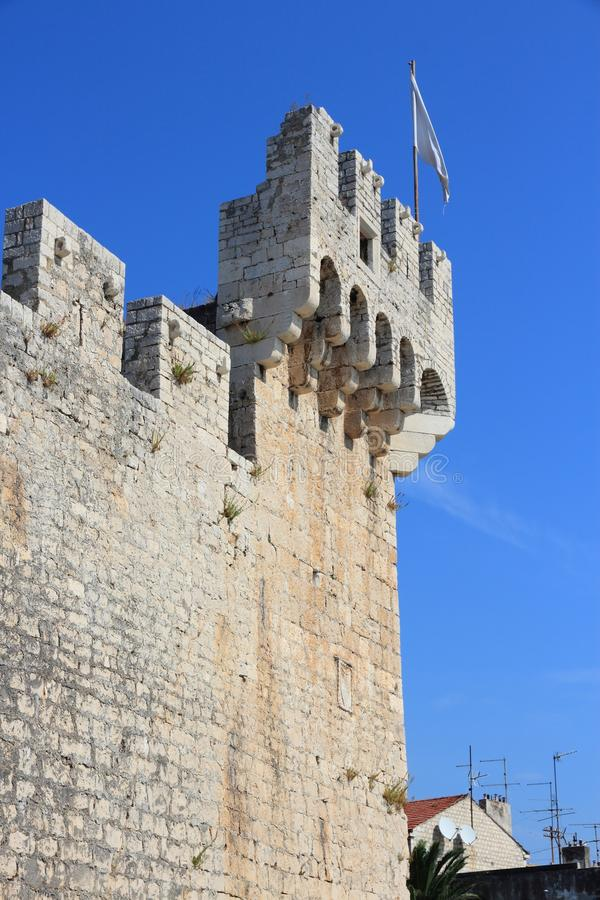Castillo de Trogir imagenes de archivo