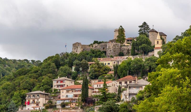 Castillo de Trsat en Rijeka, Croacia fotografía de archivo