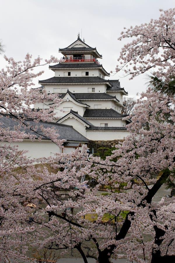 Castillo de Tsuruga-jo fotografía de archivo libre de regalías