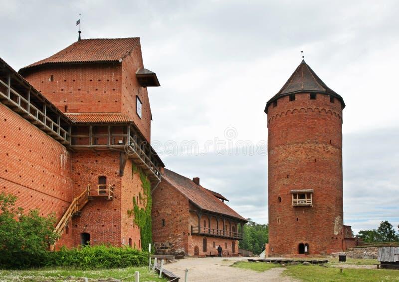 Castillo de Turaida cerca de Sigulda latvia foto de archivo