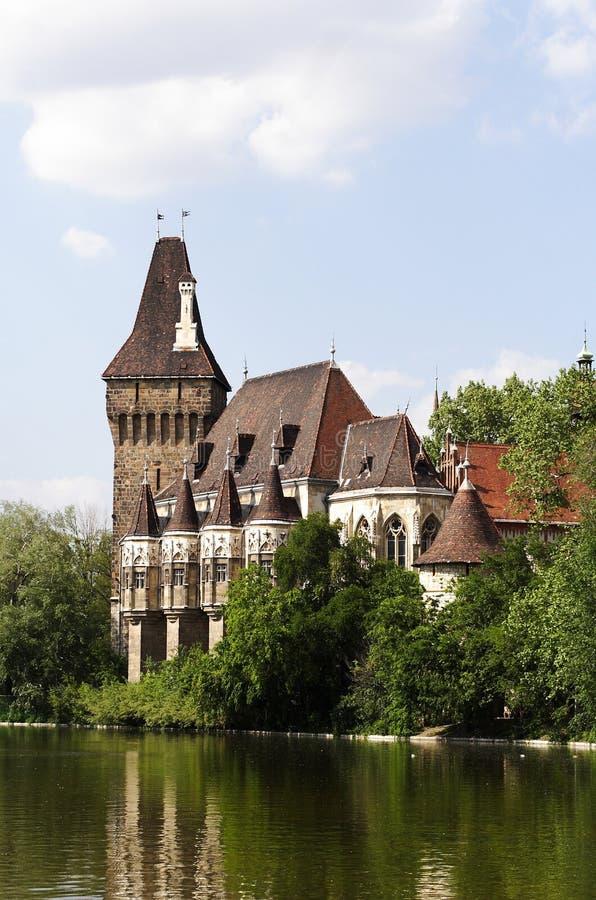 Castillo de Vajdahunyad foto de archivo
