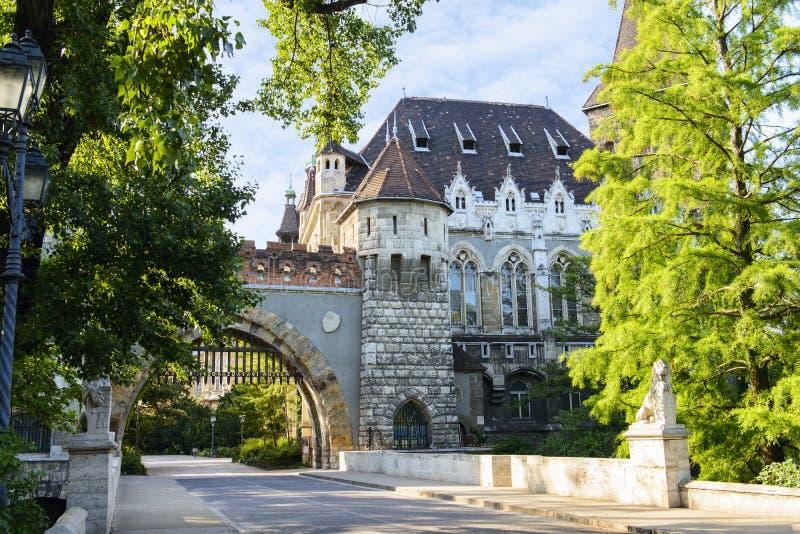 Castillo de Vajdahunyad, Budapest. Hungría imagen de archivo libre de regalías