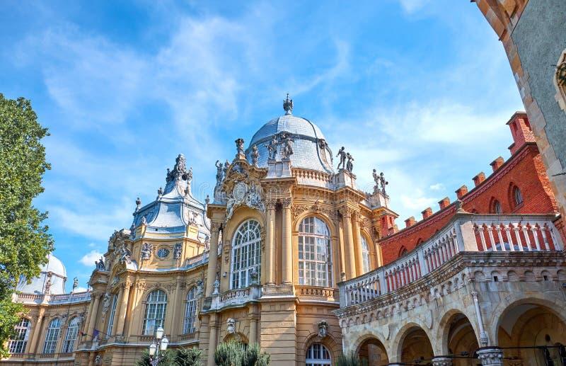 Castillo de Vajdahunyad en Budapest fotografía de archivo