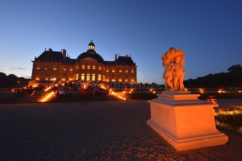 Castillo de Vaux-le-Vicomte - región de París imagenes de archivo