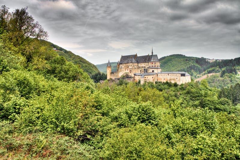 Castillo de Vianden en Luxemburgo fotos de archivo libres de regalías