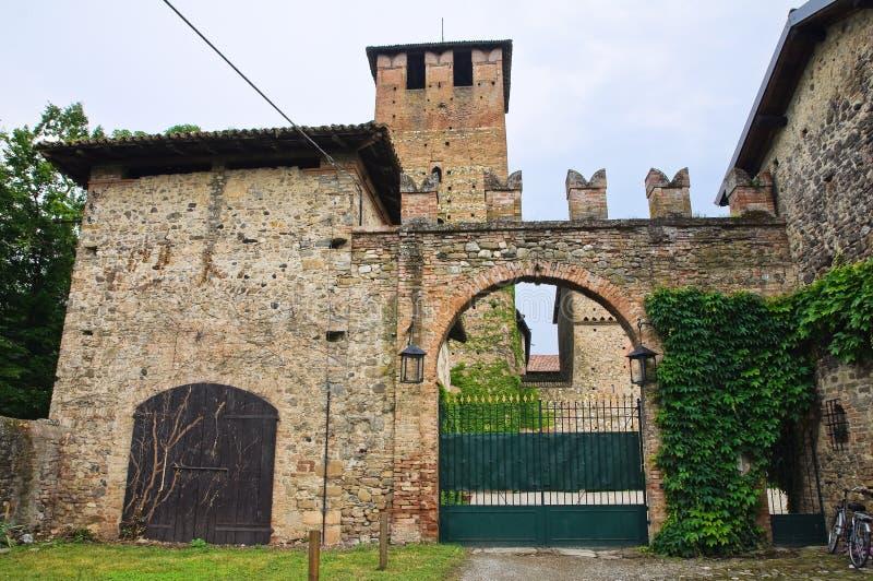 Castillo de Vigolzone. Emilia-Romagna. Italia. fotos de archivo