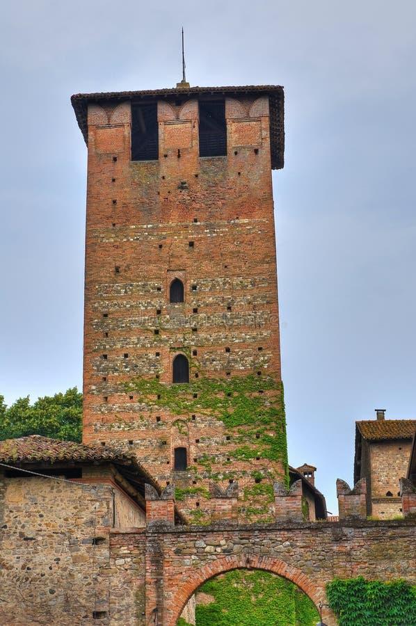 Castillo de Vigolzone. Emilia-Romagna. Italia. foto de archivo