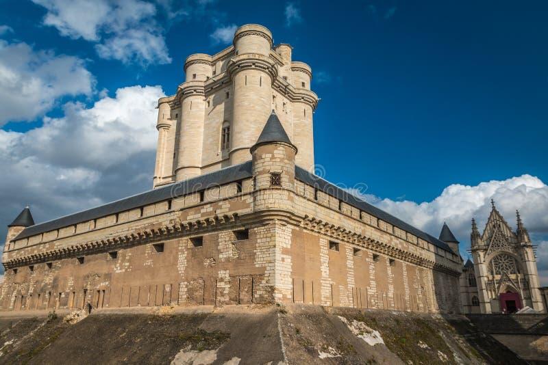 Castillo de Vincennes en París imagen de archivo
