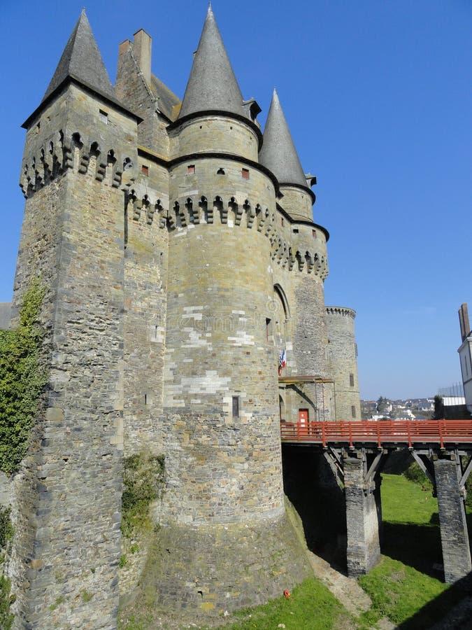 Castillo de Vitre, Francia foto de archivo libre de regalías