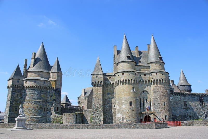 Castillo de Vitre, Francia foto de archivo