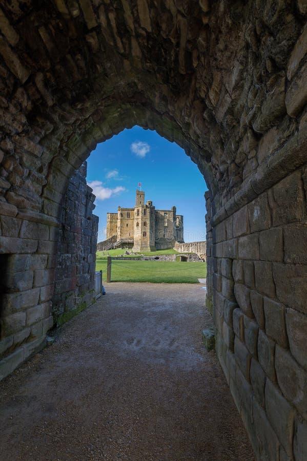Castillo de Warkworth fotografía de archivo
