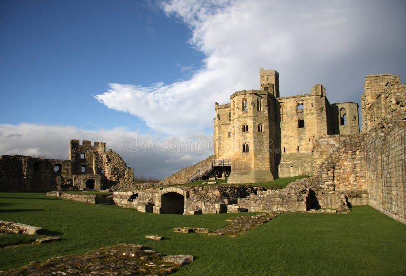 Castillo de Warkworth imagen de archivo libre de regalías