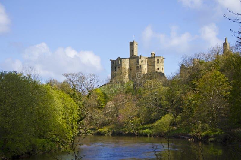 Castillo de Warkworth fotos de archivo libres de regalías