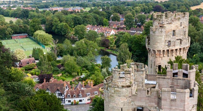 Castillo de Warwick fotos de archivo libres de regalías