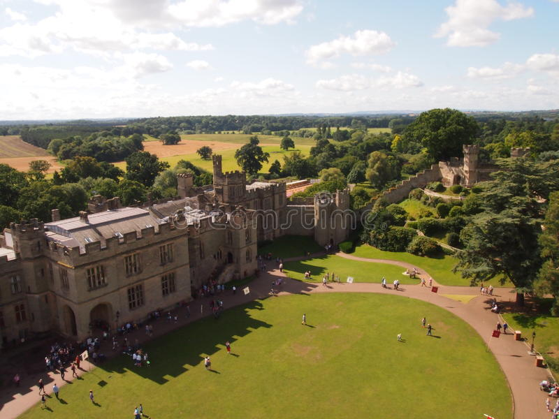 Castillo de Warwick en Inglaterra imagen de archivo libre de regalías