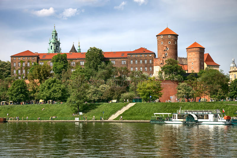 Castillo de Wawel en Cracovia fotos de archivo