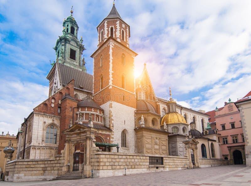 Castillo de Wawel en Cracovia imagen de archivo libre de regalías