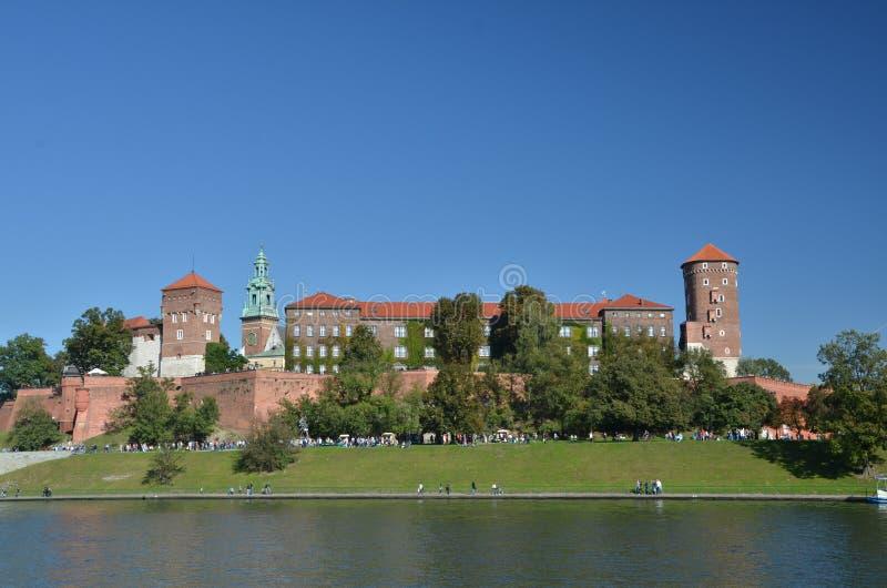 Castillo de Wawel en Cracovia foto de archivo