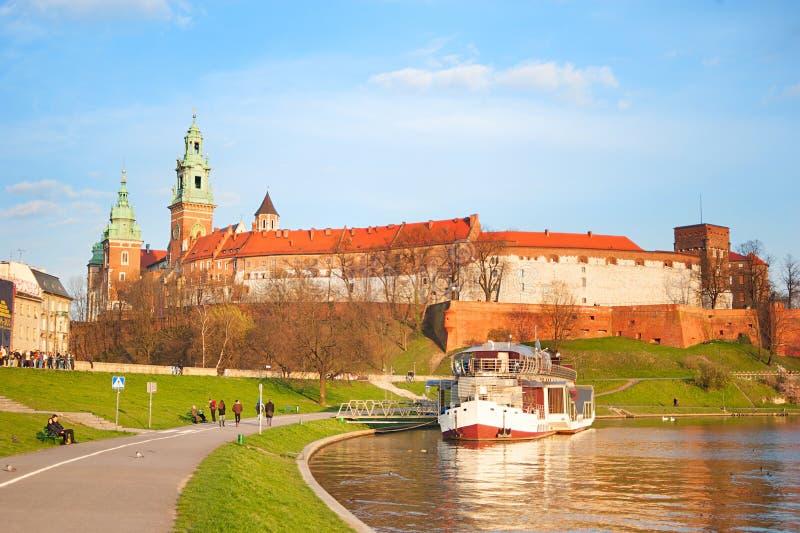 Castillo de Wawel, Kraków foto de archivo libre de regalías