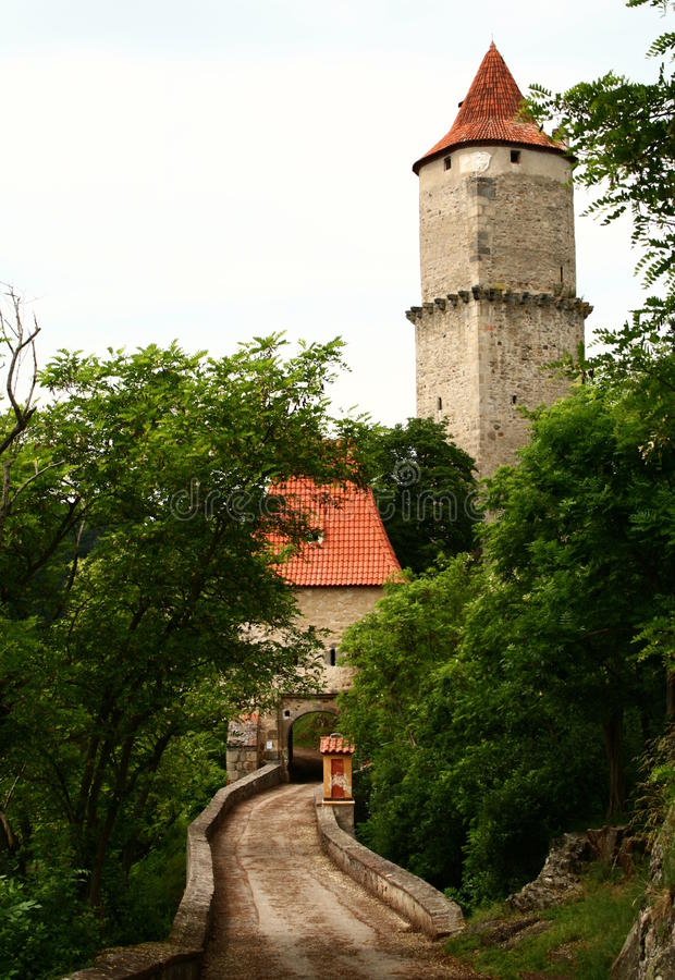 Castillo de Zvikov fotos de archivo libres de regalías