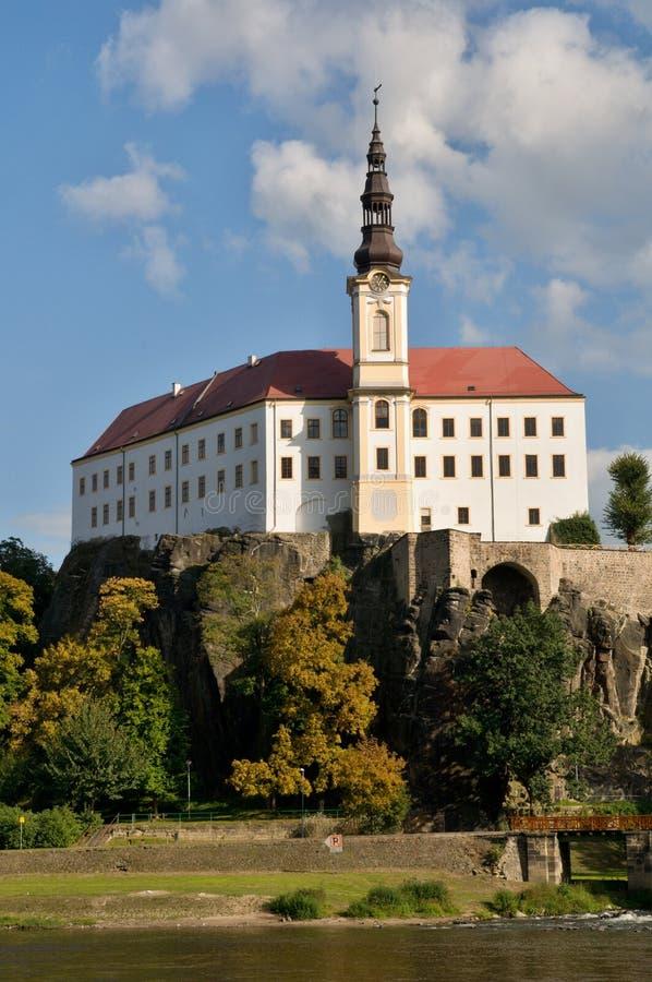 Castillo Decin, República Checa imagen de archivo libre de regalías