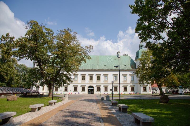 Castillo del ³ w de Ujazdà en Varsovia en Polonia, Europa imagen de archivo