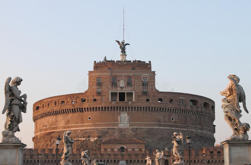 Castillo del ángel del santo fotografía de archivo libre de regalías