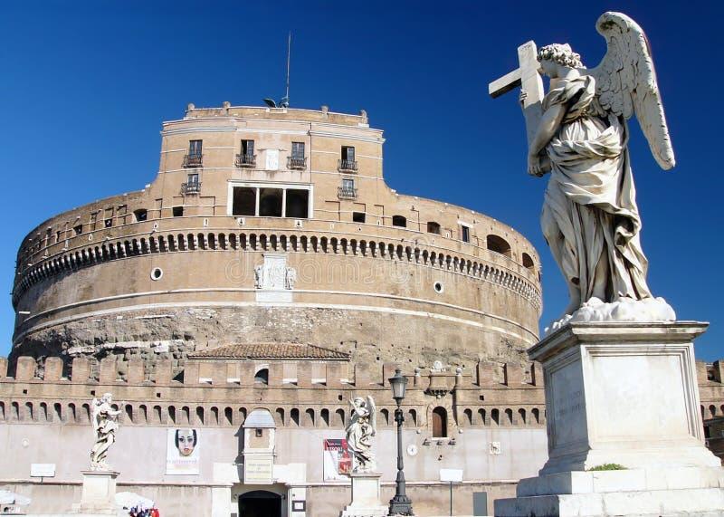 Castillo del ángel del santo en Roma foto de archivo