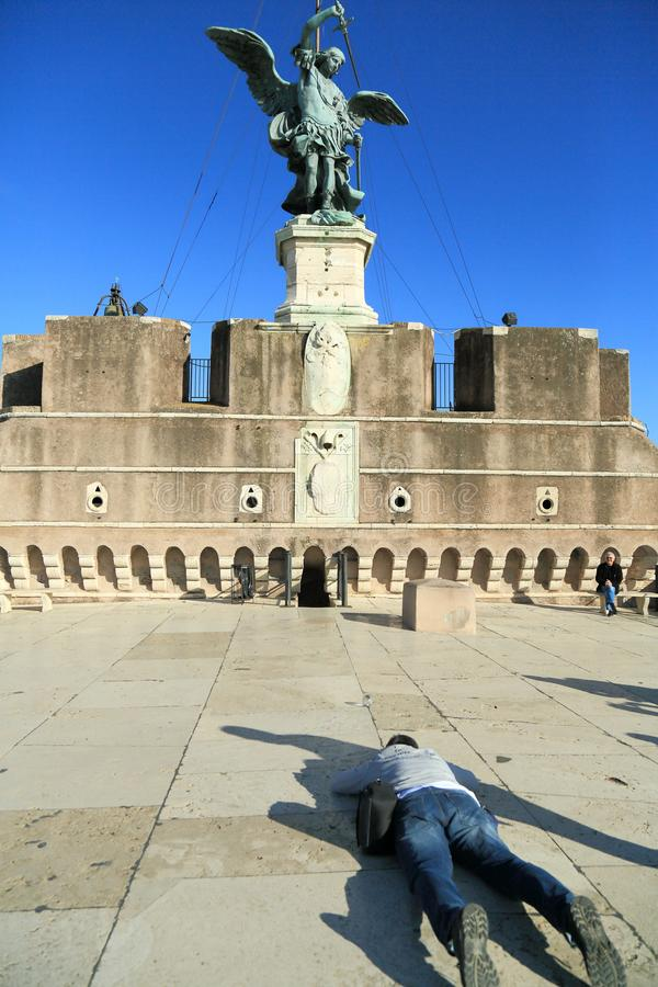 Castillo del ángel santo fotos de archivo libres de regalías