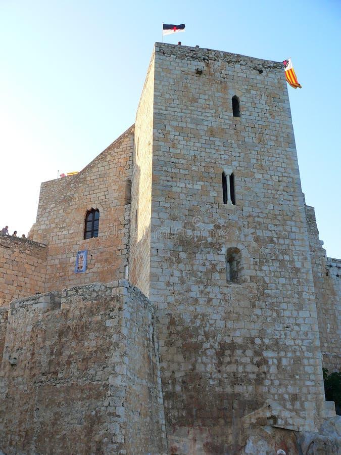 Castillo del Папа Luna, Peniscola (Испания) стоковые фото