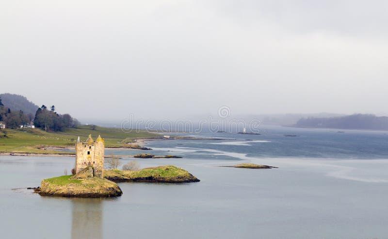 Castillo del acosador en Escocia fotografía de archivo libre de regalías