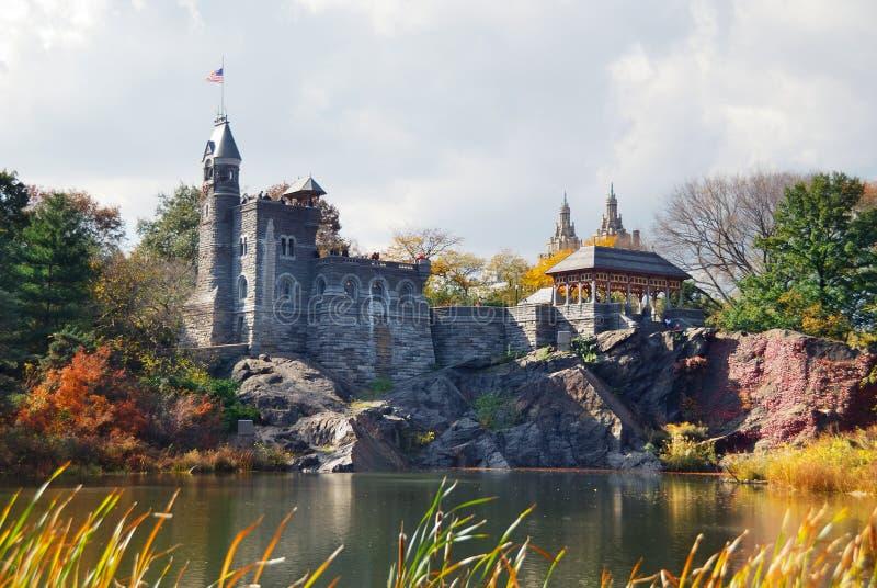 Castillo del belvedere de New York City Central Park imágenes de archivo libres de regalías