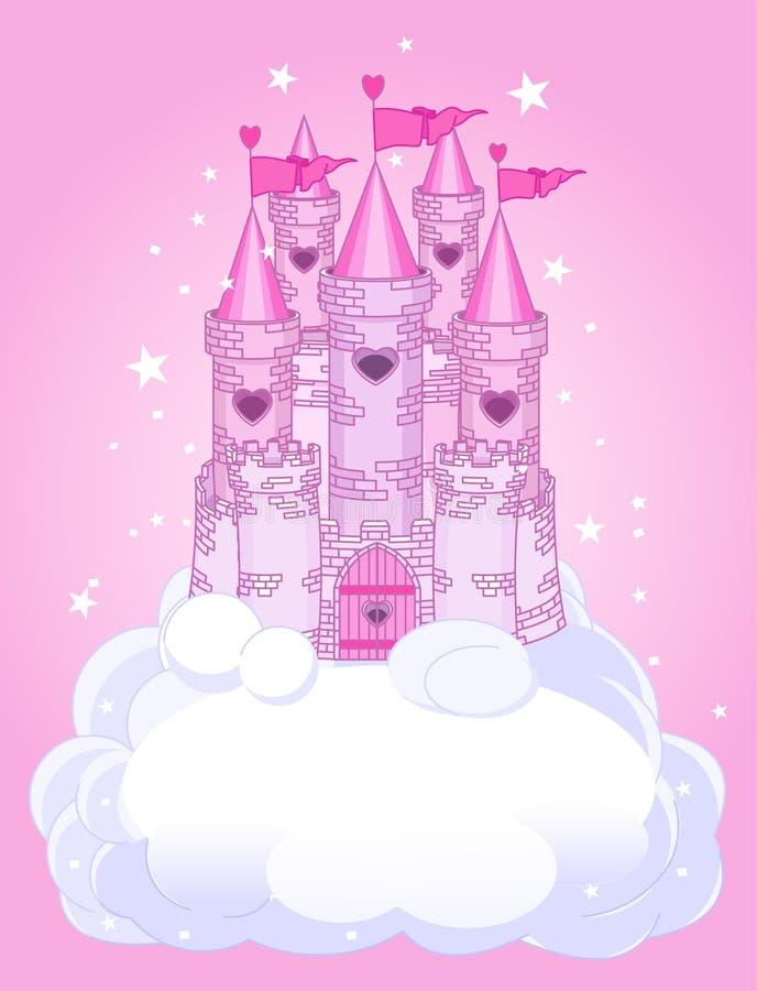 Castillo del cielo ilustración del vector