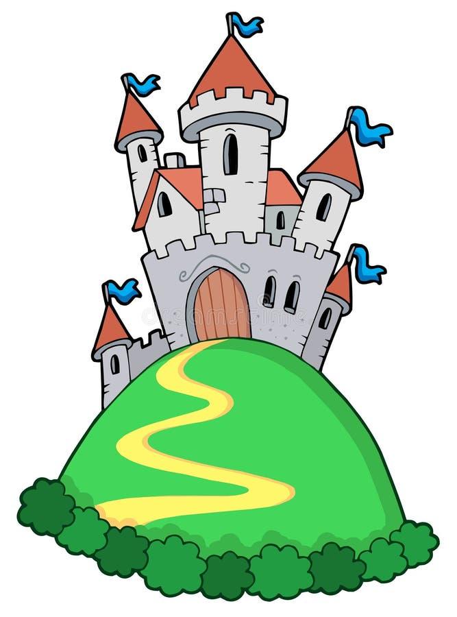 Castillo del cuento de hadas ilustración del vector