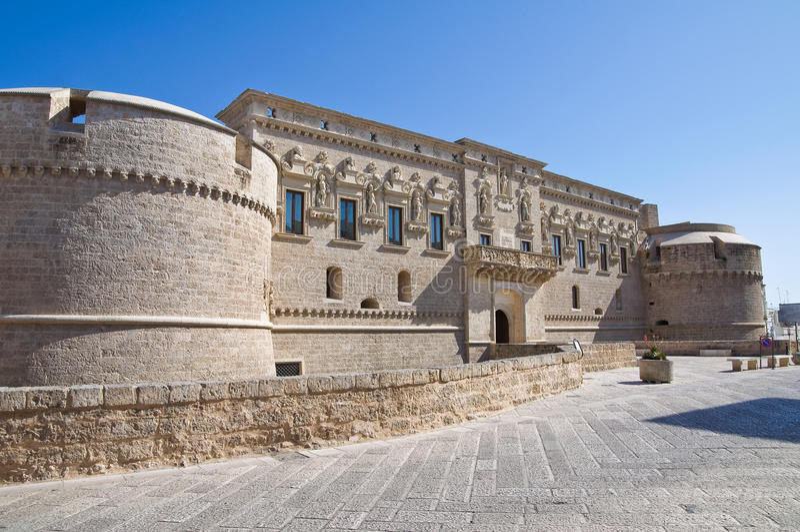 Castillo del d'Otranto de Corigliano. Puglia. Italia. imagen de archivo