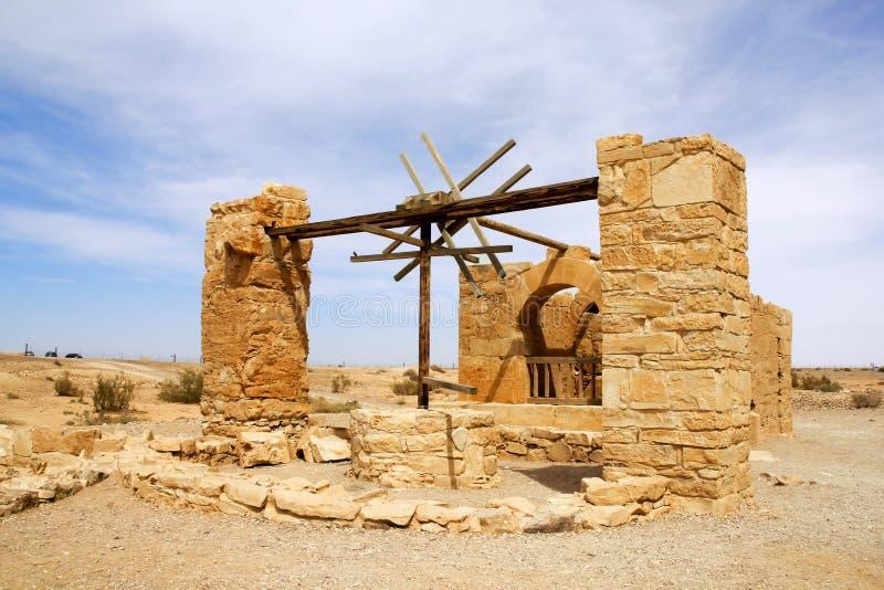 Castillo del desierto de Amra foto de archivo