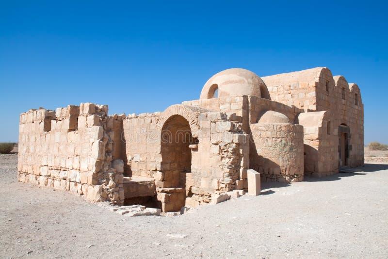 Castillo del desierto de Quseir Amra imagenes de archivo
