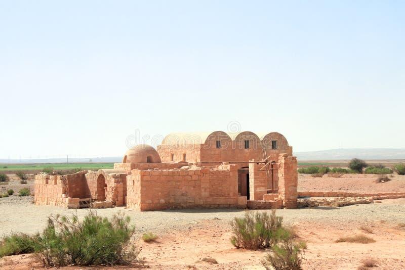 Castillo del desierto de Quseir Amra, Jordania, Medio Oriente fotos de archivo
