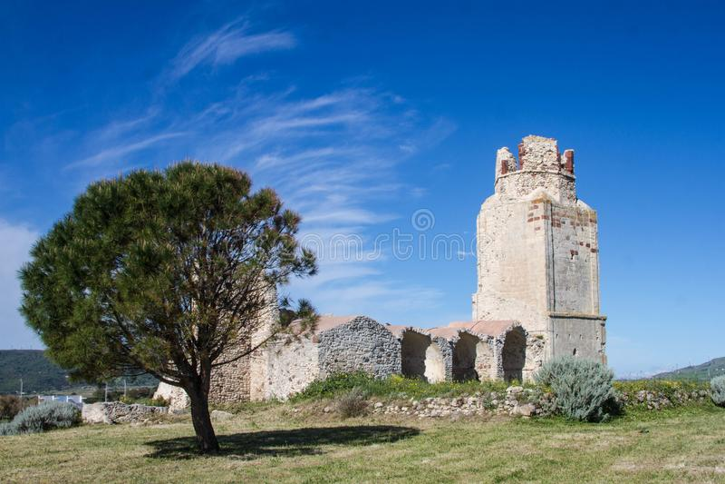 Castillo del doria, chiaramonti, castel sardo, Sassari foto de archivo libre de regalías