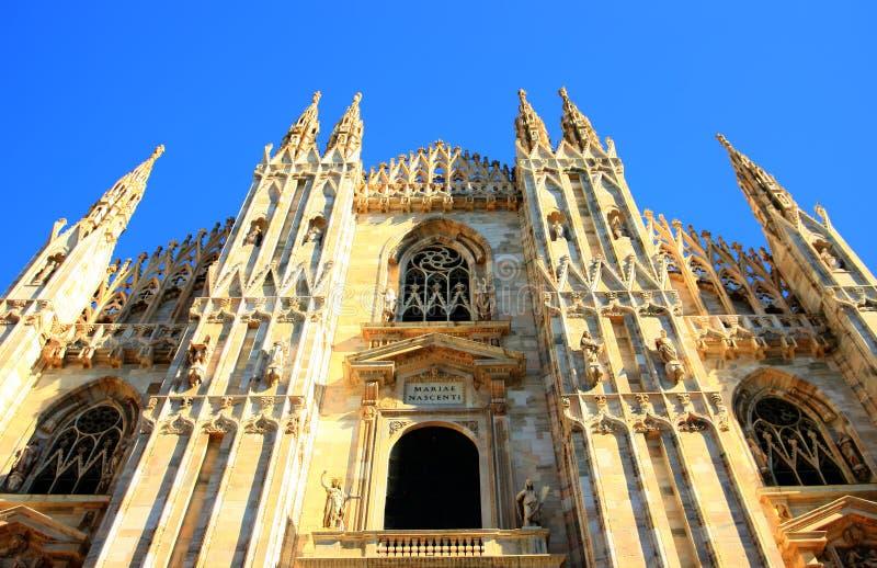 Castillo del Duomo en Milano, Italia imágenes de archivo libres de regalías