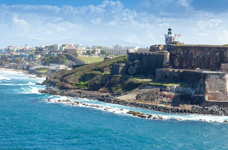 Castillo del EL Morro en San Juan, Puerto Rico imagenes de archivo